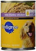 Pedigree Traditional Ground Dinner With Chopped Beef Dog Food, 13.2 Oz.