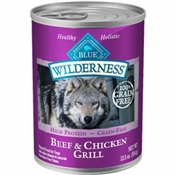 Blue Buffalo Winderness 12.5oz beef and chicken dog food