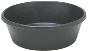 Heavy Duty 8 Qt Rubber Feed Pan, Black