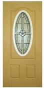3068 LH 3/4 View Oval Texas Starw/ Yellow Zinc Hinges