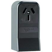 Black 50 Amp 125/250 Volt Surface Mount 3 Wire Range Outlet