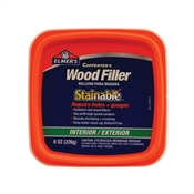 Elmers E890 Paintable, Stainable Wood Filler, 8 fl-oz Tub