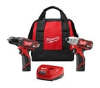 M12 Cordless 2-Tool Combo Kit, 2 Lithium-Ion Batteries