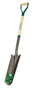 Drain Spade, 16 in L x 6 in W Blade, 1 in Collar, Wood Handle