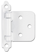 Self-Closing Flush/Overlay Cabinet Hinge - White