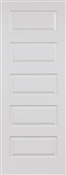2068 Left Hand 5 Panel  Riverside Smooth Satin Nickel Hinges
