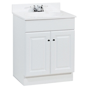 "24"" Richmond White Finish Marble Top Vanity"