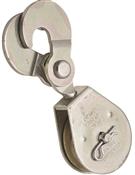 National Hardware N225-615 Scissor Hook Single Pulley, 480 lb Weight Capacity, 3/8 in Rope