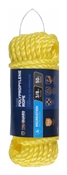"3/8"" X 50' Twisted Poly Rope, Yellow"