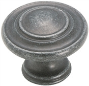 Amerock BP1586WID Cabinet Knob, 1 in Projection, Zinc, Wrought Iron Dark