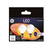 Decorative LED Light Bulbs, 350 Lumens, 4.5-Watts, 2-Pk.
