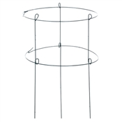 """89322GT Green Thumb, 18"""" x 36"""", Green, Double Peony Ring Plant Support"""