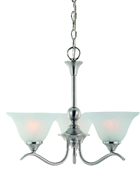 3 Light Satin Nickel Dover Chandelier Indoor Ceiling Fixture