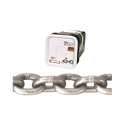 Campbell 0184616 High-Test Chain, 5400 lb Working Load Limit, 3/8 in, Carbon Steel, Bright