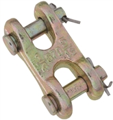 National Hardware 3248BC Series N282-137 Clevis Link, 3/8 in, 6600 lb Weight Capacity, Steel, Yellow Chrome