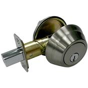 Wave Single Cylinder Deadbolt, Satin Nickel