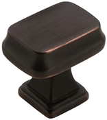 1-1/4 in (32 mm) Length Knob - Oil Rubbed Bronze