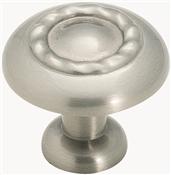 Amerock BP1585G10 Cabinet Knob, 1-1/16 in Projection, Zinc, Satin Nickel