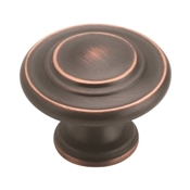 Amerock BP15862ORB Cabinet Knob, 1-5/16 in Projection, Zinc, Oil-Rubbed Bronze