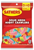 Sour Neon Night Crawlers 3.75 oz