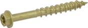 Power Pro ONE Multi-Material Screw Exterior Hex-Wash Head Bronze-Plated #10 x 1-3/4""