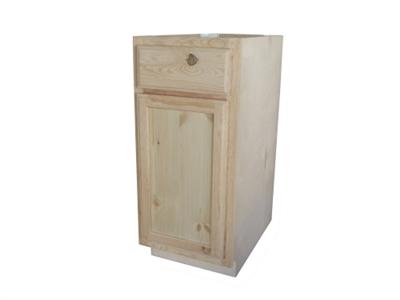 12 Unfinished Pine Base Cabinet