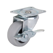 Prosource JC-N05-G Swivel Caster with Brake, 2 in Dia Wheel, 105 lb Weight Capacity, Thermoplastic Rubber Wheel