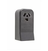 Black 30 Amp 125/250 Volt Surface Mount 3 Wire Dryer Outlet
