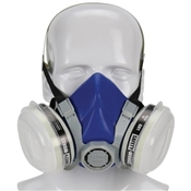 MSA SWX00318 Half Mask Respirator, M Mask, Organic Vapor Cartridge, Thermoplastic Elastomer, Blue