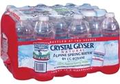 Crystal Geyser Bottled Water, 16.9OZ, 24 Pack