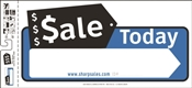 HY-KO SSP-204 Directional Sign, Sale Today, White Legend