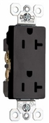 20A, Heavy Duty Decorator Outlet, Black