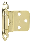 "3/8"" Offset Self-Closing Cabinet Hinge - Polished Brass"