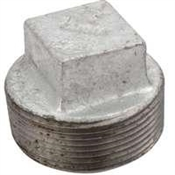 "1"" Plug Galvanized Square Head"