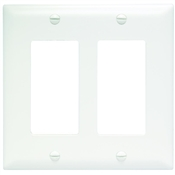 White Nylon 2 Gang Rocker Plate