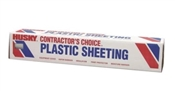 Husky CF1020C Lightweight Painter's Sheeting, 100 ft L, 20 ft W, 10 mil Thick, Clear