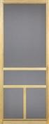 """T Bar Solid Wood Screen Door, 2'8"""" x 6'8"""""""