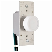 Ivory 600 Watt Single Rotary Dimmer