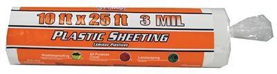 Plastic Sheeting 10'X25' 3Mil Clear