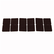 Prosource FE-50218-PS Furniture Pad, Felt Cloth, Brown
