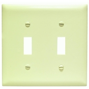 Ivory Nylon 2 Gang Toggle Plate