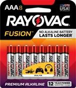 Rayovac 824-8TFUSK AAA Batteries, 8 Pack