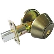 Deadbolt Single Cylinder Truguard G3, Antique Brass