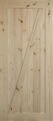 3070 Knotty Pine Z Barn Door