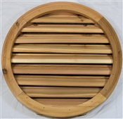 "18"" Round Cedar Louver With Brick Mould"