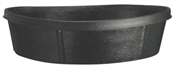 Heavy Duty 3 Gallon Rubber Feed Pan, Black