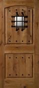 3068R Knotty Alder W/ Clavos & Speakeasy Door, Oil Rubbed Bronze