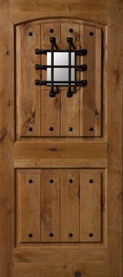 3080L Knotty Alder W/ Clavos & Speakeasy Door, Oil Rubbed Bronze