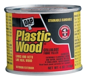Plastic Wood Filler Natural 4 Ounce