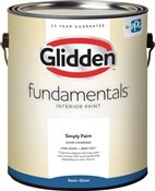 Glidden Fundamentals Semi-Gloss White Interior Paint, 1 Gallon